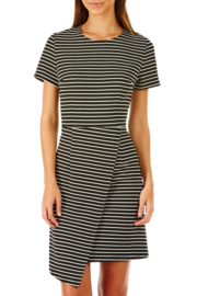 Penelope stripe assymetric dress