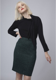 CF - Jersey skirt dark green melange