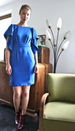 Trumpet Sleeve Pencil dress