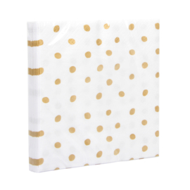 Servietten dots gold