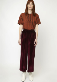 Compania Fantastica - Velvet  trouser deep red