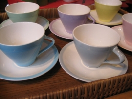 Koffieservies Boch Pastel Expo `58 model