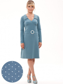 Chloe dress dots, lichtblauw