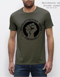 MuZ - T-shirt  Procrastinators unite... tomorrow! (kaki)