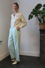 Nice Things - Tencel Wide Pants Aqua