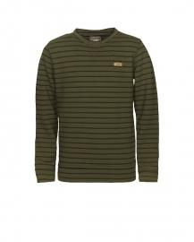 Gestreepte sweater army