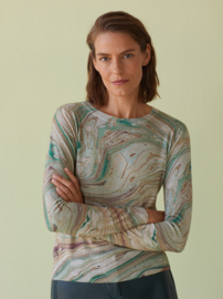 Nice Things - Ceramic Print roundneck sweater