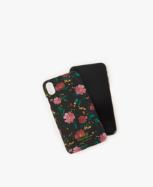 Wouf - Black Flowers iPhone case
