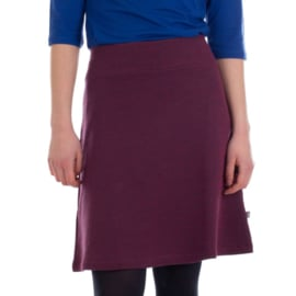 Froy&Dind - Skirt long night blue-dark red fleece
