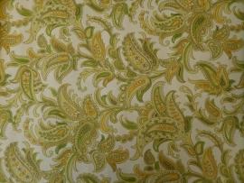 Geel Paisley motief vintage behang