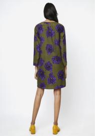 Compania Fantastica - Green Dress purple flowers