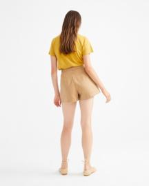 Thinking Mu - Camel Hemp narciso shorts