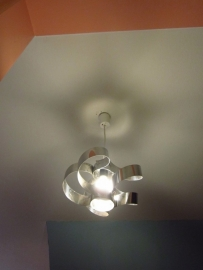 Seventies metalen lamp