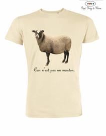 MuZ - T-shirt Ceci n'est pas un Mouton