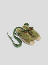 Nice Things - Espadrille sandalen in Suède