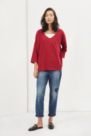 Kitten soft sweater red