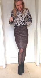 Texture Fur Skirt