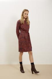 Anita abstract dress Navy & Red