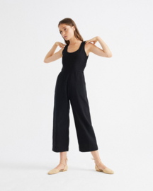 Thinking Mu - Black Rafflesia Jumpsuit