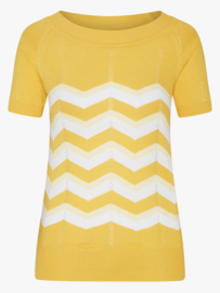 Yeye - Zick Zack knit top yellow