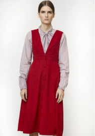 Compania Fantastica - Red Pinafore dress