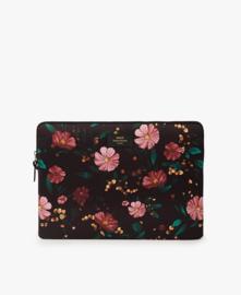 Wouf - Black Flowers Laptopsleeve 15''