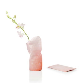 Paper Vase Cover small - Pink tones