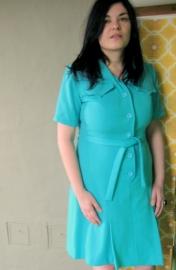 Lichtblauwe `60 jurk (44)