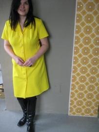Knalgele `60-jurk (44)