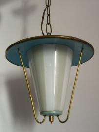 Lichtblauw metalen fifties-armatuur