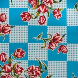Tafelzeil Tulipanes blauw