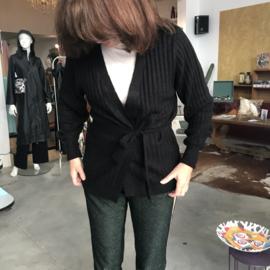 Ichi - Amara Rib Cardigan Black