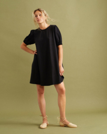 Thinking Mu - Black Floreta Dress