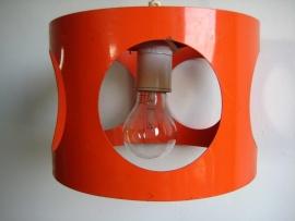 oranje, metalen `70 lustertje