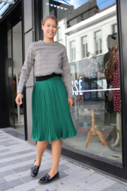 Cir - Green plissé skirt