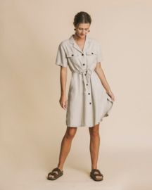 Thinking Mu - Stone Hemp Karen Dress