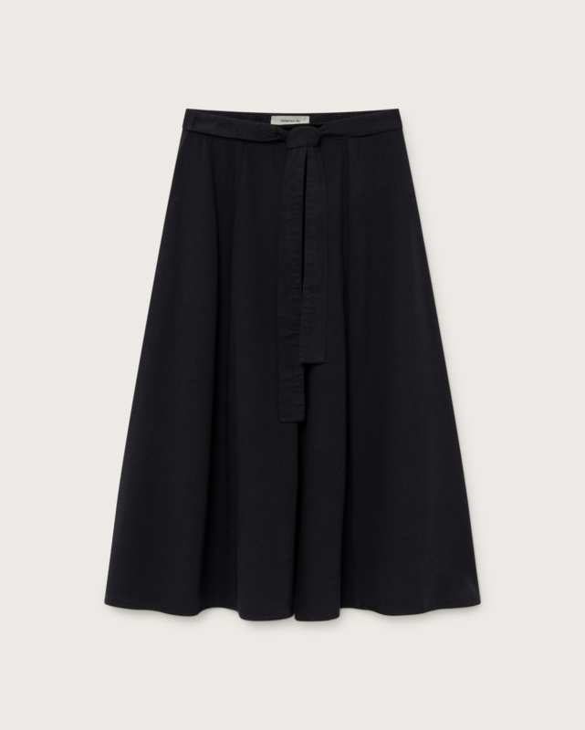Thinking Mu - Black Tauret Skirt