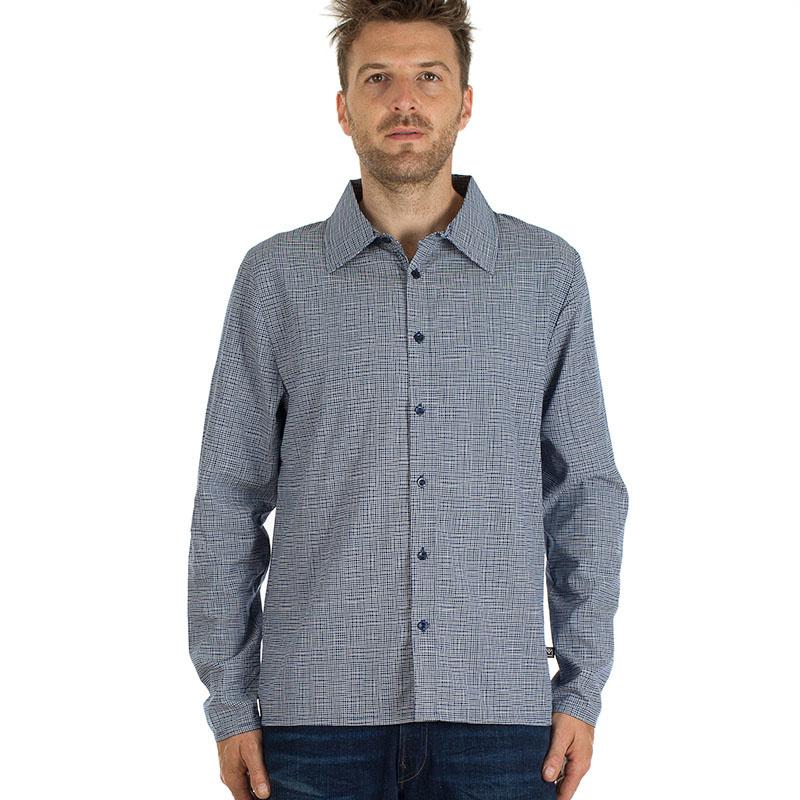 MM - Shirt Grid tencel long sleeve