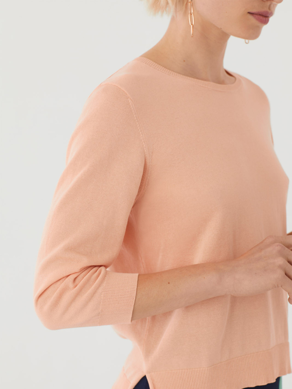 Nice Things - Basic roundneck jumper apricot