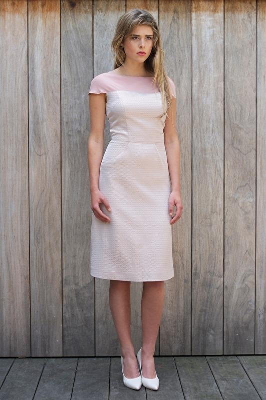Colette dress Pink metallic