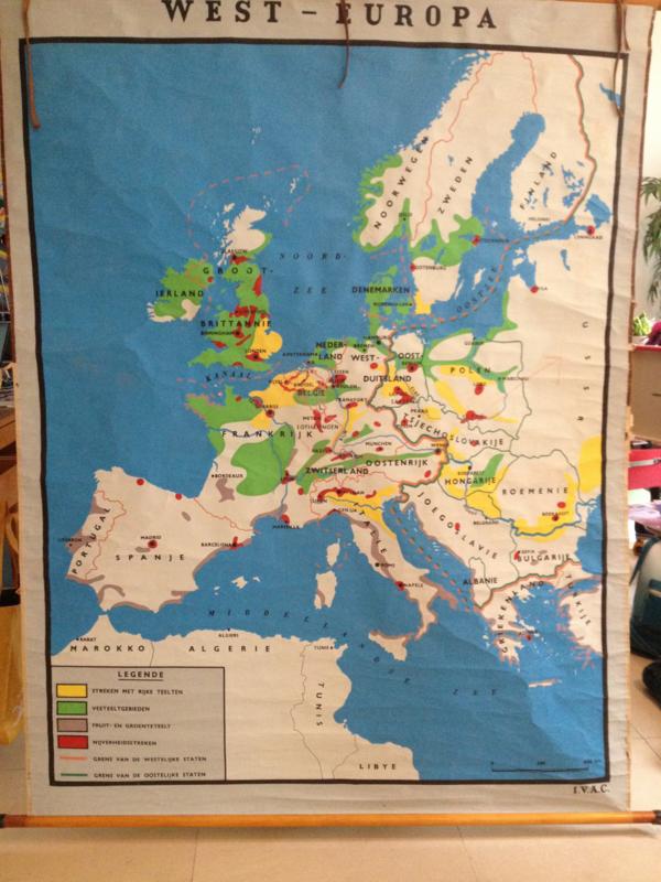 Landkaart West-Europa