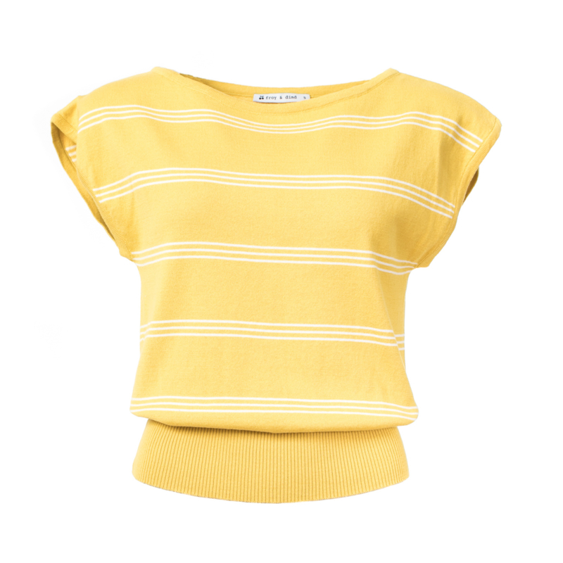Froy&Dind - Top Amy stripes yellow