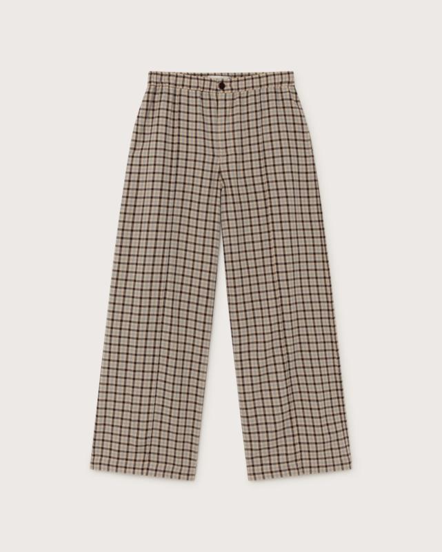 Thinking Mu -  Small Checks Maia pants