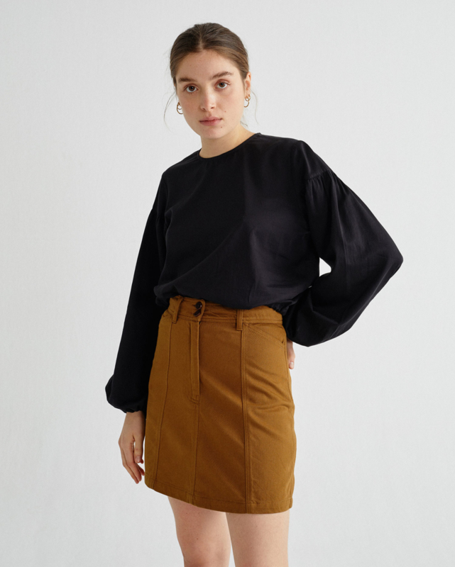 Thinking Mu - Black Boann blouse