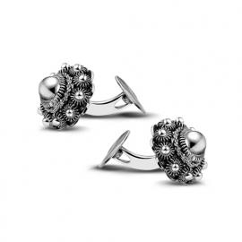 Zeeuwse knop manchetknopen in sterling zilver