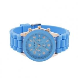 Geneva horloge met siliconen band