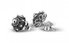 Zeeuwse knop oorbellen in sterling zilver