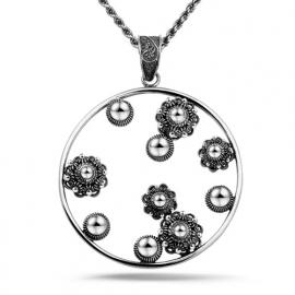 Zeeuwse knop hanger in sterling zilver