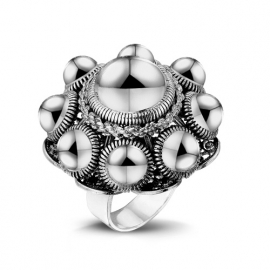 Zeeuwse knop ring in sterling zilver
