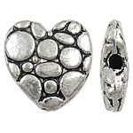 Metalen kraal: hart (10)